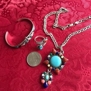 Jewelry - Native American Sterling Silver Jewelry Set